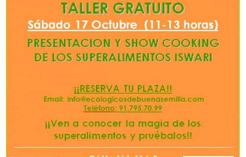 Taller gratuito superalimentos Iswari